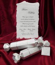 Invitatie eleganta tip pergament