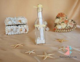 Invitatie in sticla cu stelute de mare