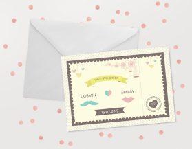 Invitatii nunta ieftine IDN004