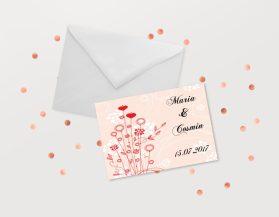Invitatii nunta ieftine IDN011