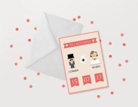 Invitatii nunta ieftine IDN016
