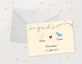 Invitatii nunta ieftine IDN024