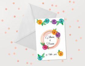 Invitatii nunta ieftine IDN025