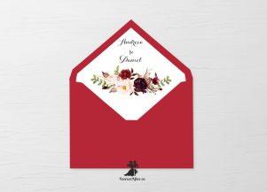 Liner pentru plic invitatii de nunta Flower Dream