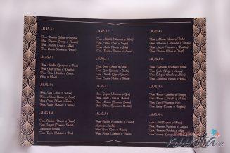 Lista cu asezarea invitatilor la mese burlesque Marele Gatsby
