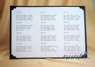 Lista cu asezarea invitatilor la mese Fancy Black and White
