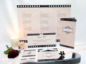 Lista cu asezarea invitatilor la mese roz Hollywood