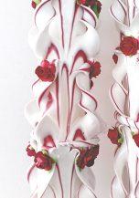 Lumanare grena nunta 100 cm sculptata la capatul superior