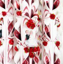 Lumanare nunta grena 80 cm sculptata la ambele capete