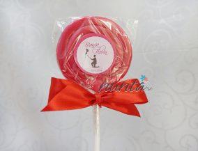 Marturie de nunta acadea colorata cu fundita rosie Cerere in casatorie