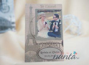 Marturie magnetica personalizata cu fotografie Paris Amour