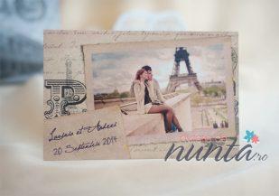 Marturie magnetica personalizata cu fotografie Vintage Paris