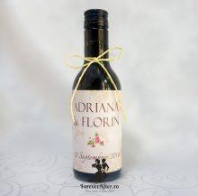 Marturie sticla de vin Vintage Rose 187 ml