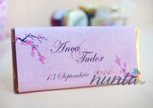 Marturie tableta de ciocolata Cherry Blossom 42 g