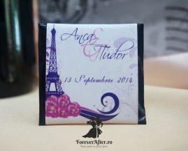 Marturie tableta de ciocolata Tour Eiffel 18 g