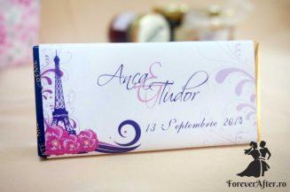 Marturie tableta de ciocolata Tour Eiffel 42 g