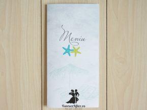 Meniu beach wedding boarding pass