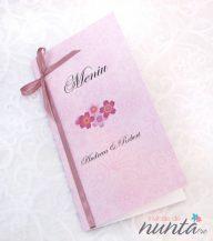 Meniu roz cu flori de cires Cherry Blossom