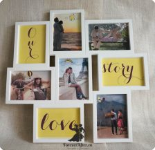 Mesaj in rama cu fotografii