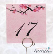 Numar de masa cu flori de cires Cherry Blossom