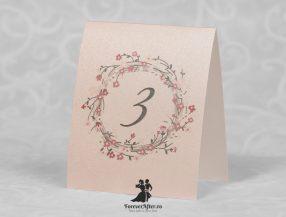 Numar de masa cu floricele Our Love Story