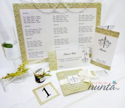 Pachet invitatii nunta pentru 10 familii Elegant Chandelier