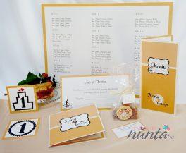 Pachet nunta Orange Retro Love pentru 10 familii