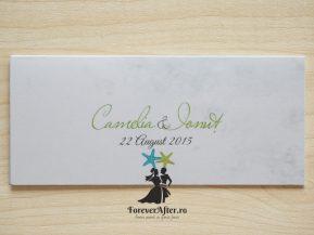 Place card beach wedding boarding pass