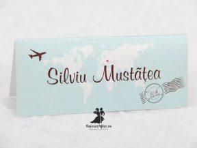 Place card Travel albastru