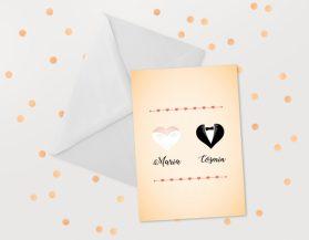Invitatii nunta ieftine IDN022