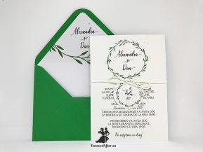 Invitatie de nunta Green Branches