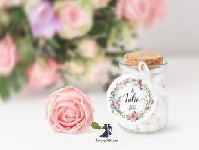 Set de 15 etichete pentru marturii tag bulina Special Flowers