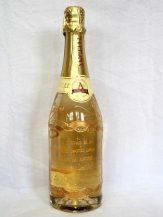 Sticla de sampanie personalizata cu motiv auriu