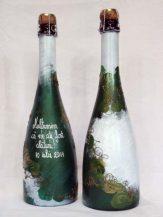 Sticla de sampanie personalizata spring vine