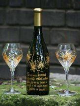 Sticla de vin Dancing Flowers personalizata