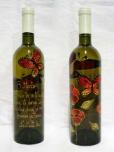 Sticla de vin personalizata Butterflies