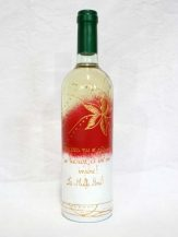Sticla de vin personalizata cu flori aurii