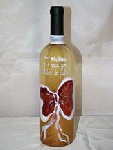 Sticla de vin personalizata cu fundita rosie