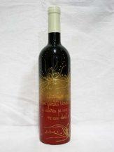 Sticla de vin personalizata Dancing Flowers