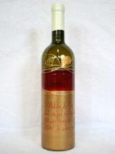 Sticla de vin personalizata Inimi aurii
