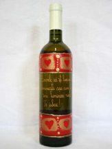 Sticla de vin personalizata Inimi rosii