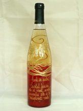 Sticla de vin personalizata rosu cu auriu
