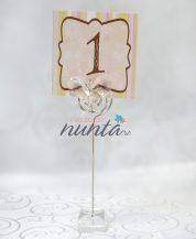 Suport pentru numarul de masa cu fluturas de sticla