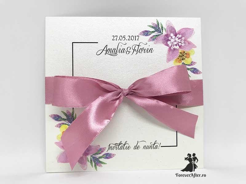 Invitatie De Nunta Flower Simplicity Invitatii De Nunta