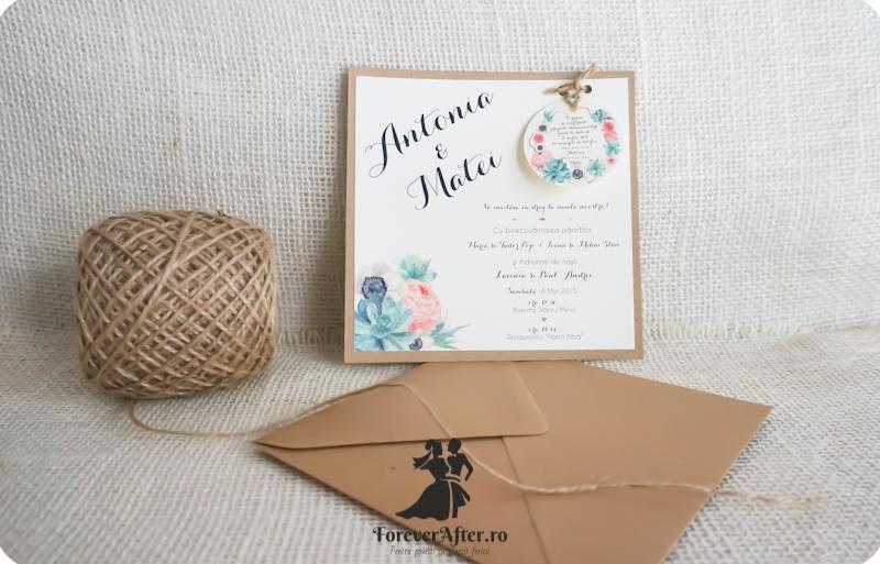 Invitatie De Nunta Vintage Flowers Bloom Invitatii De Nunta