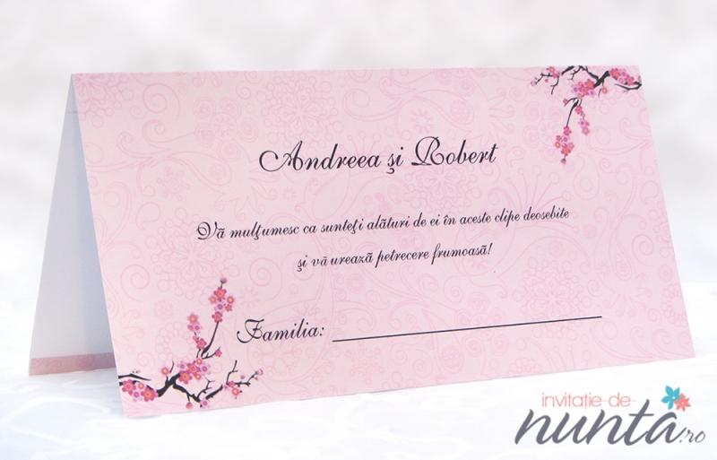Plic De Bani Cu Flori De Cires Cherry Blossom Accesorii Nunta